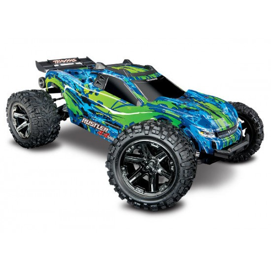 Traxxas Rustler 4X4 VXL 1/10 Scale Stadium Truck with TSM TRA67076-4