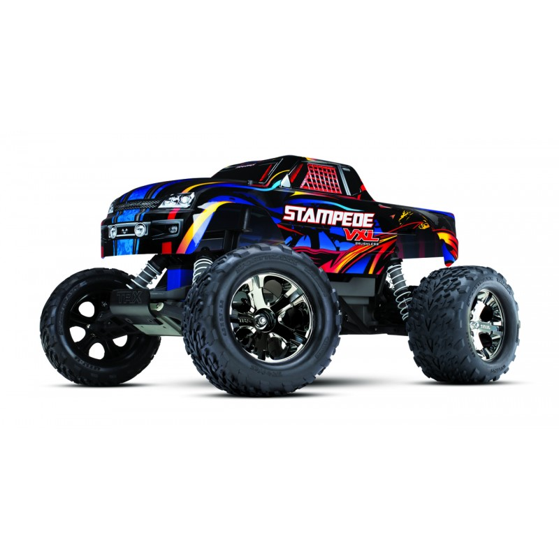 Traxxas Stampede 2WD VXL Monster Truck with TSM TRA36076-4