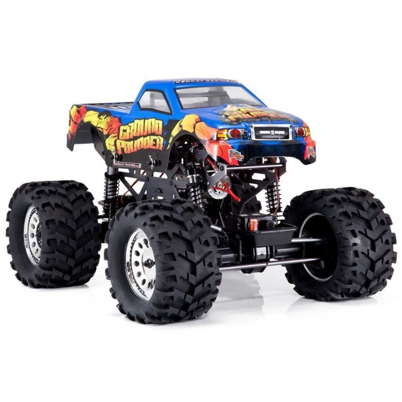 Redcat Racing Ground Pounder 1/10 Scale Monster Truck REDGROUNDPOUNDER-GUNMETAL-GP-BODY