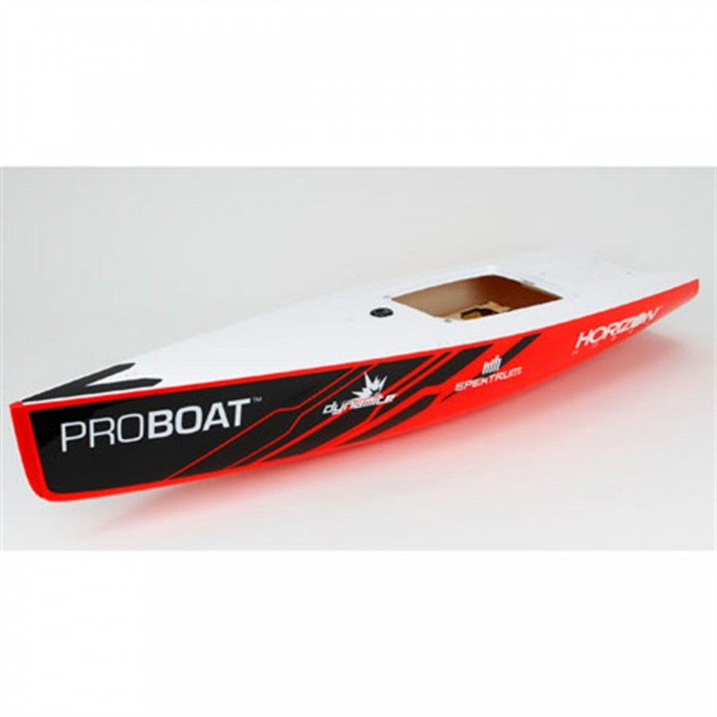 Pro Boat Hull Black and Red Ragazza PRB271000