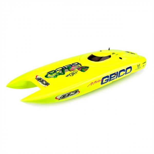 Pro Boat Hull and Canopy Yellow Miss GEICO 29 BL P...