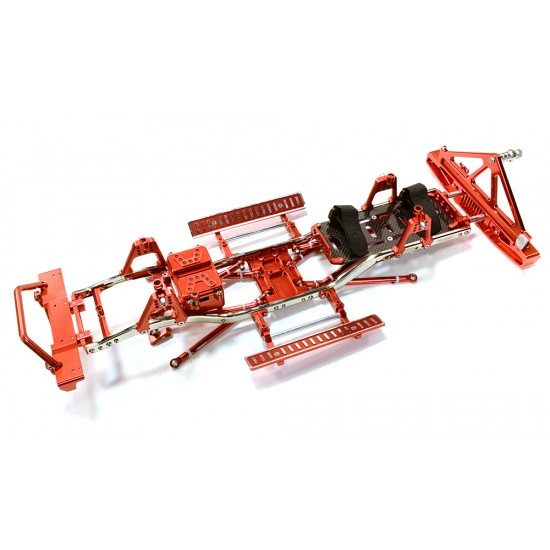 Integy Steel Ladder Frame Chassis Kit with Hop-Up Parts INTC26936RED