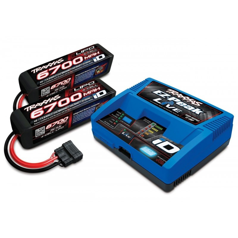 Traxxas 4s Battery Completer Pack Two Batteries & Charger TRA2993