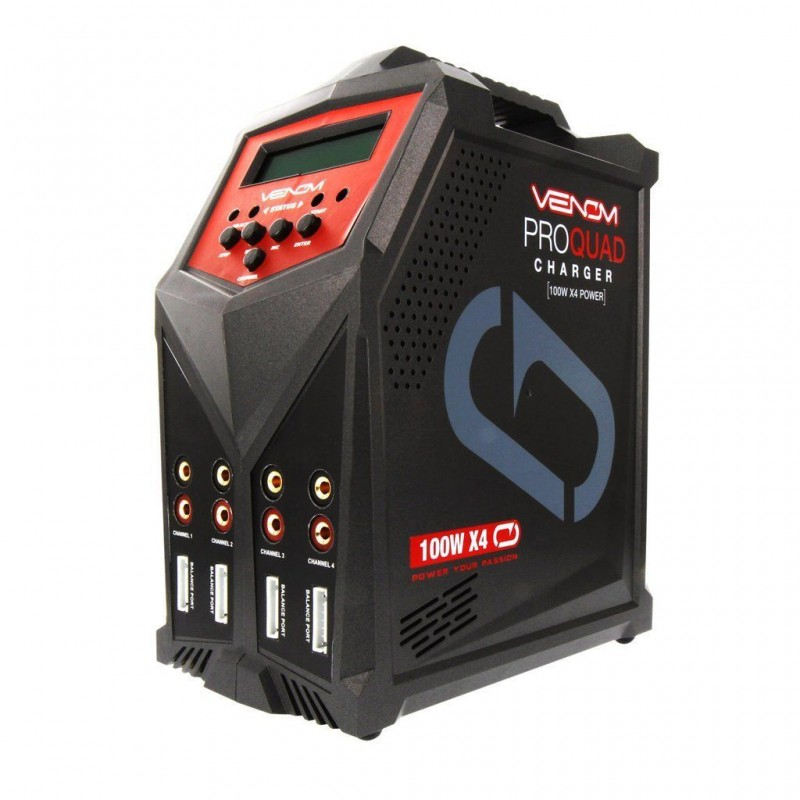Venom Pro Quad 100W 7A 4-Port AC/DC Battery Charge...