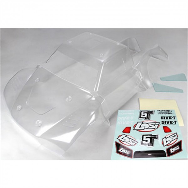 Losi Clear 1/5 Truck Body Set Complete 5IVE-T LOSB...